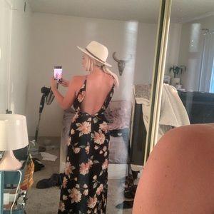 Nordstrom Dresses - Long black floral maxi